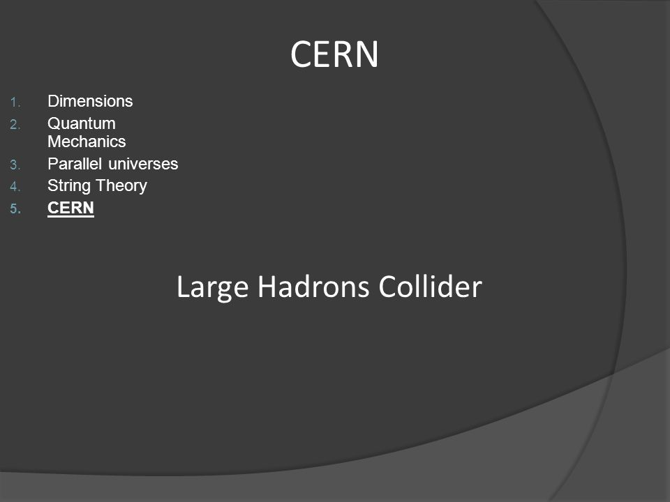 Large Hadrons Collider