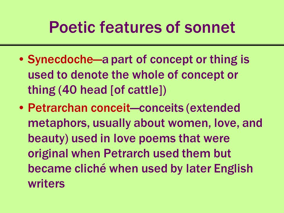 Poetic features of sonnet