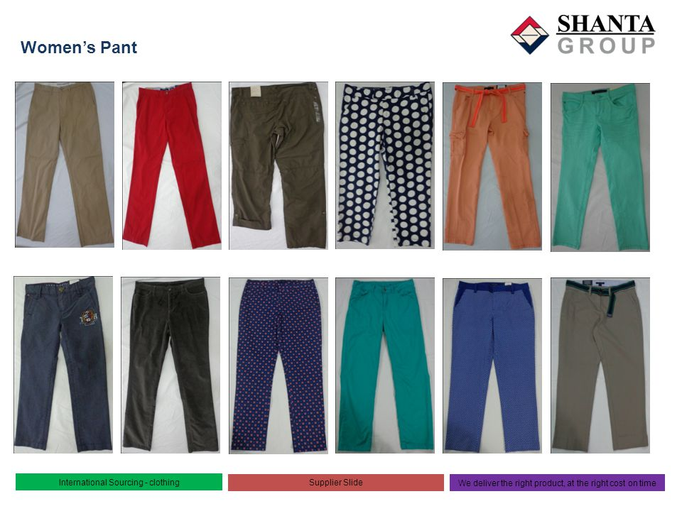 Women's Pant International Sourcing - clothing Supplier Slide