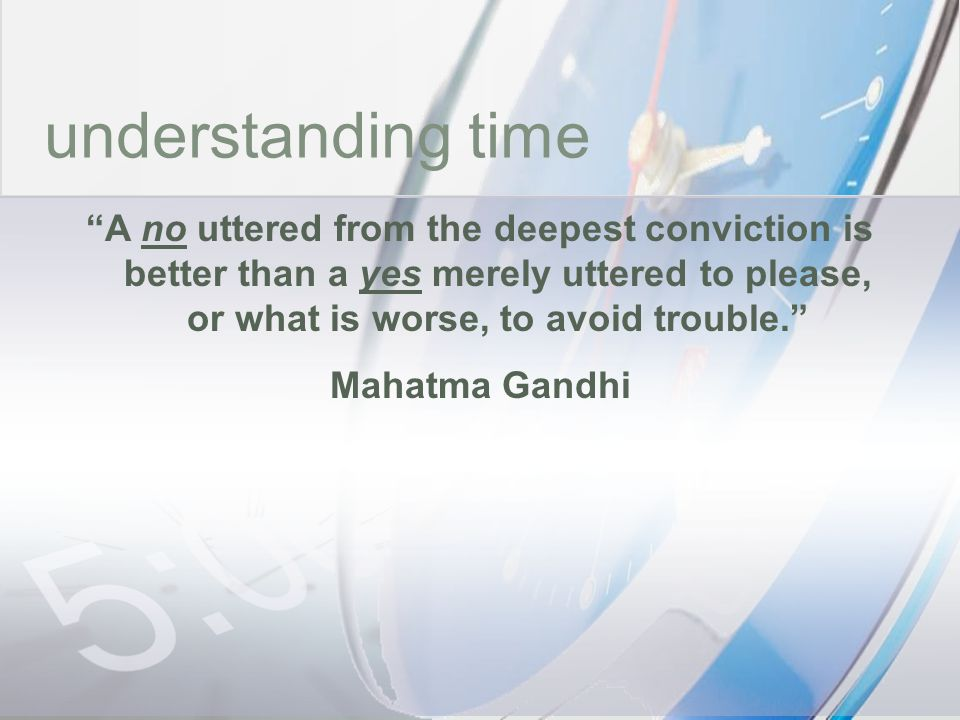 time understanding time