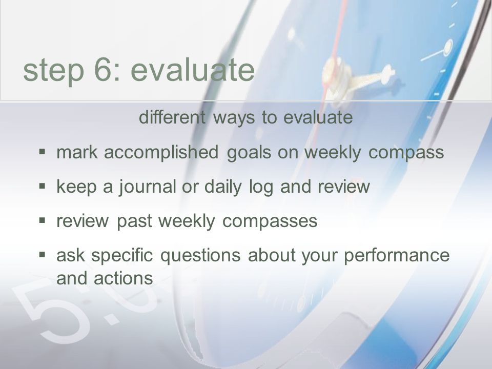 different ways to evaluate