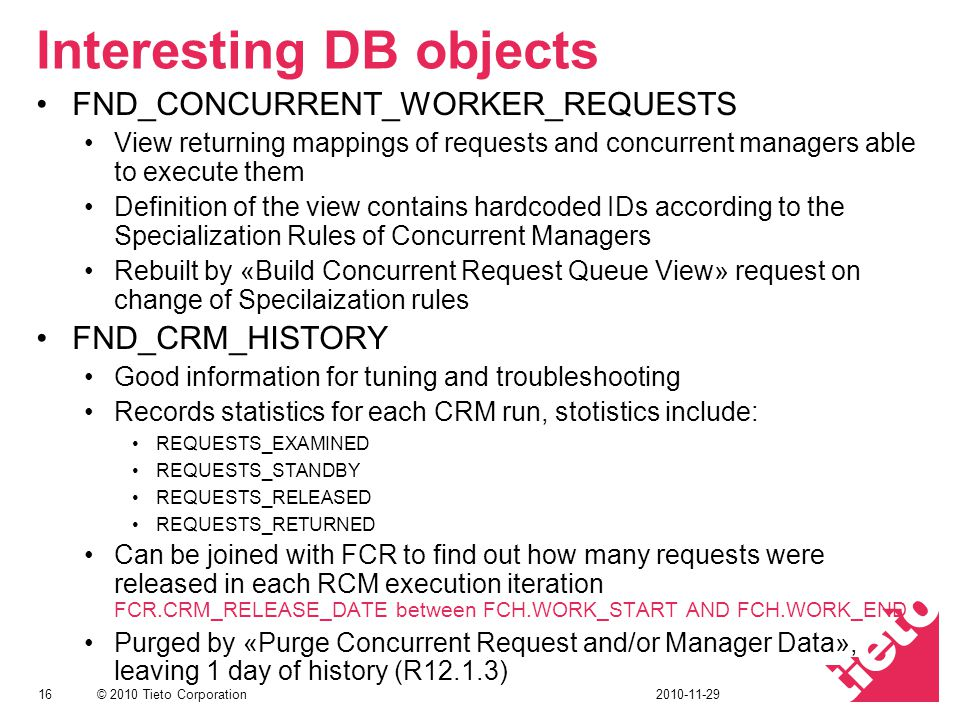 Interesting DB objects