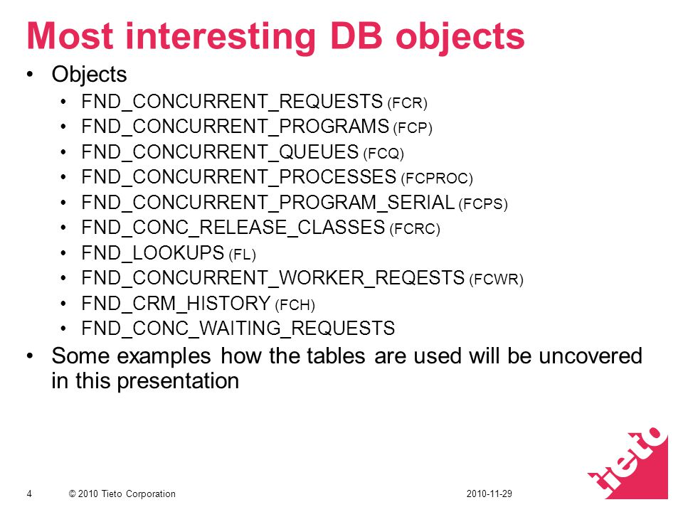 Most interesting DB objects