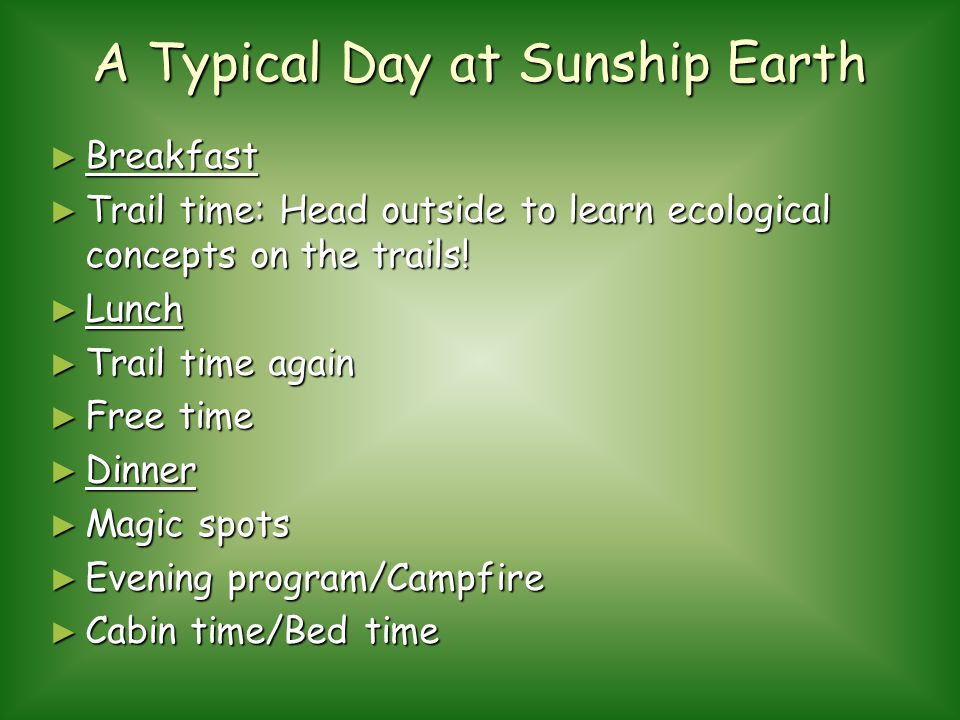 A Typical Day at Sunship Earth