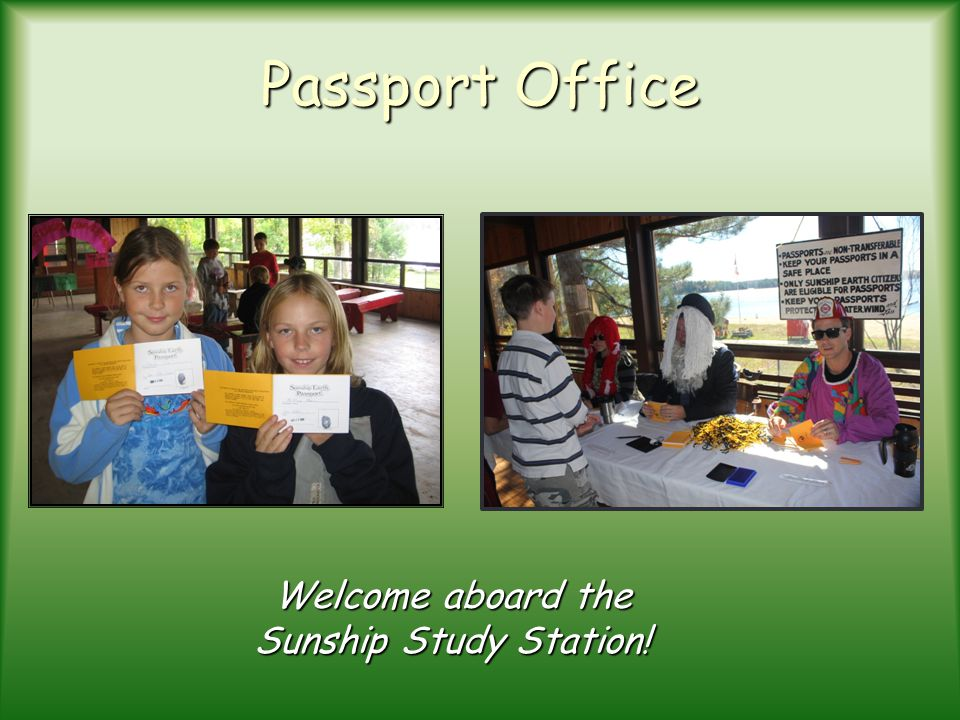 Welcome aboard the Sunship Study Station!