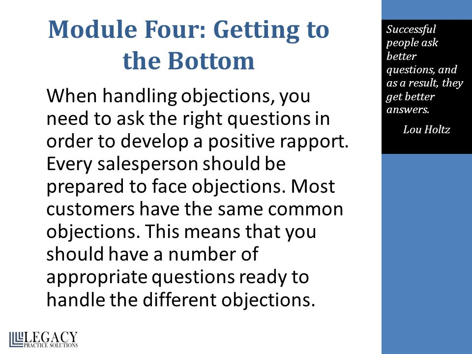 Module Four: Getting to the Bottom