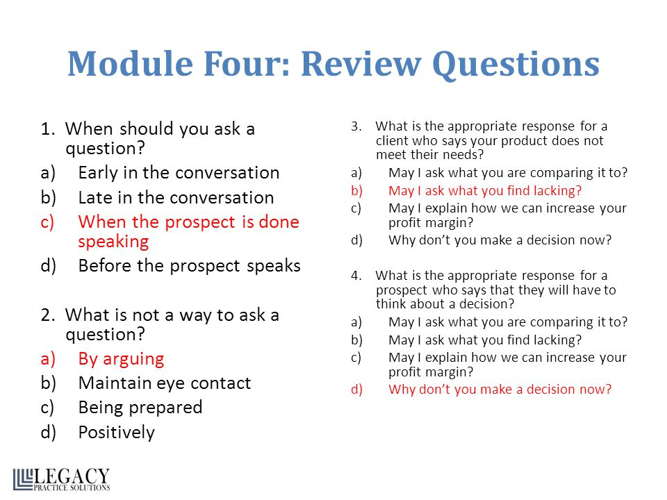 Module Four: Review Questions
