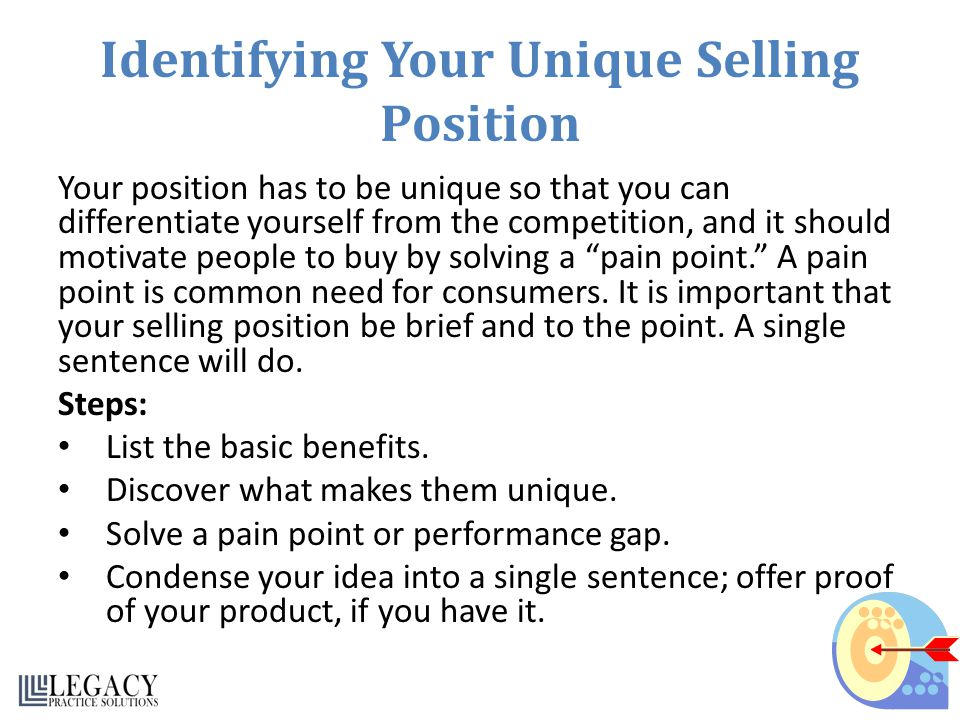 Identifying Your Unique Selling Position