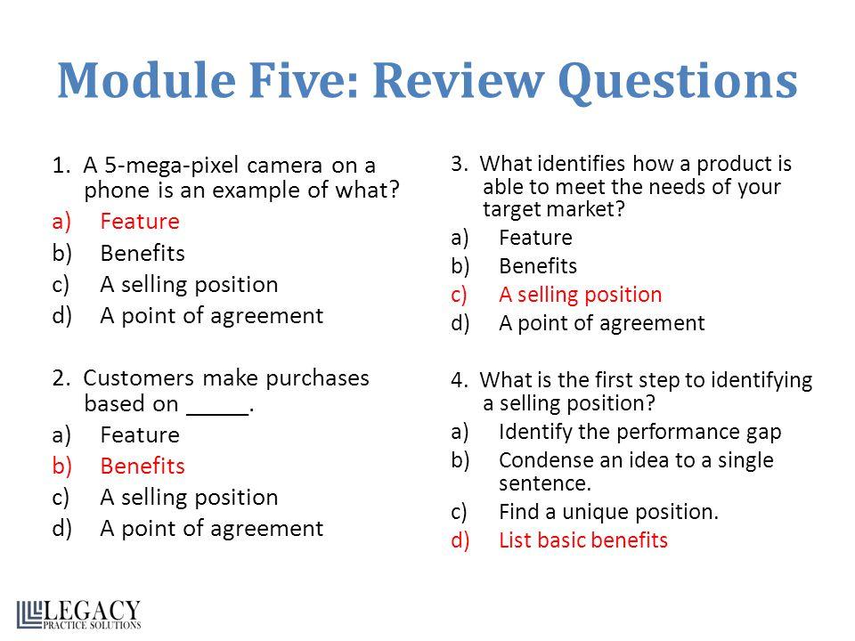 Module Five: Review Questions