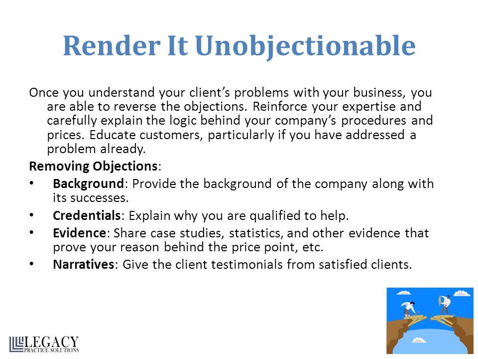 Render It Unobjectionable