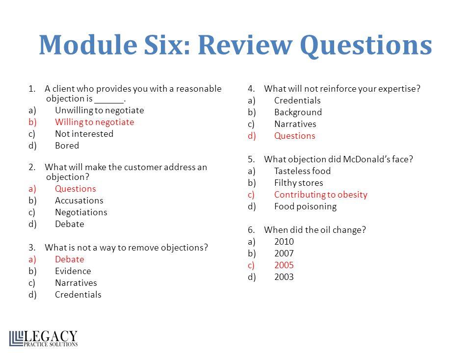 Module Six: Review Questions