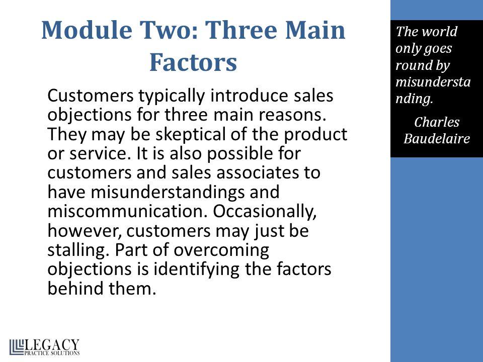 Module Two: Three Main Factors