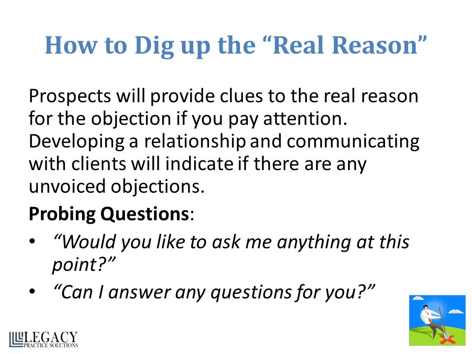 How to Dig up the Real Reason