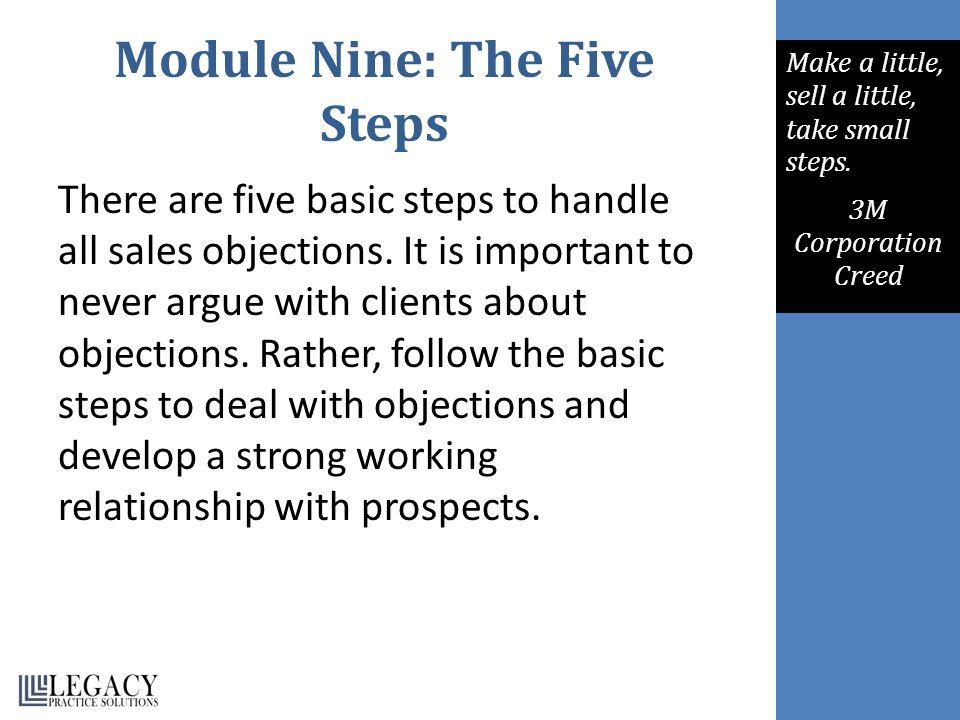 Module Nine: The Five Steps