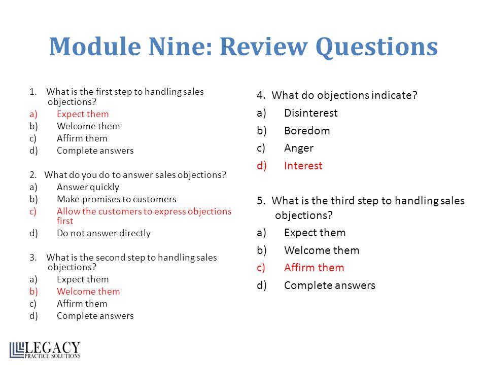 Module Nine: Review Questions