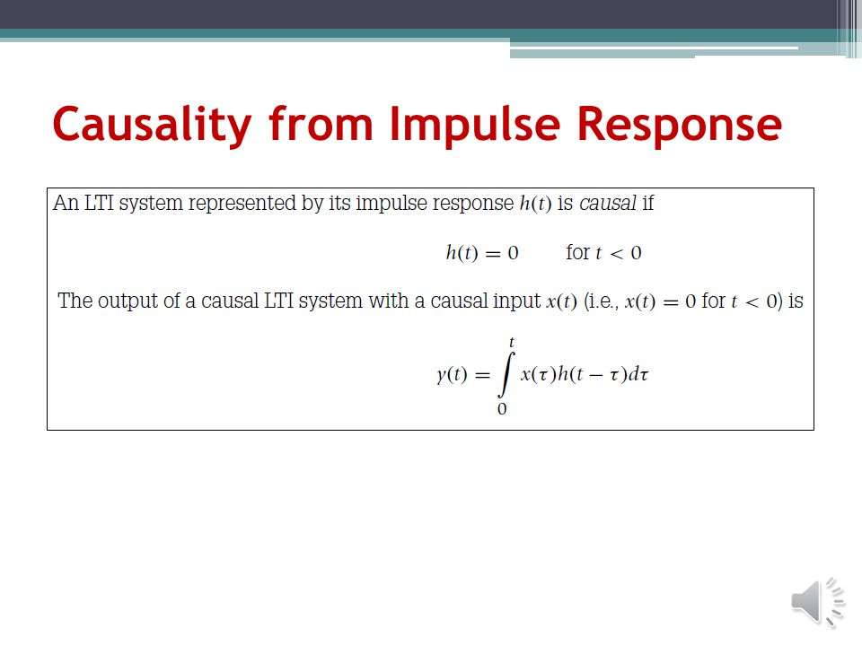 Causality from Impulse Response
