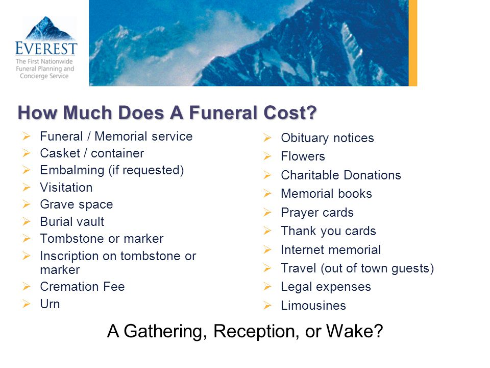 How Much Does A Funeral Cost