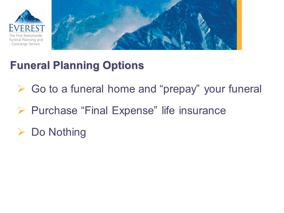 Funeral Planning Options