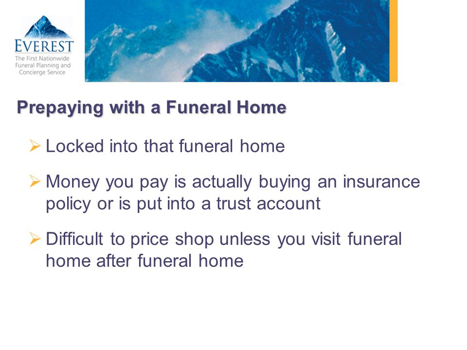 Prepaying with a Funeral Home