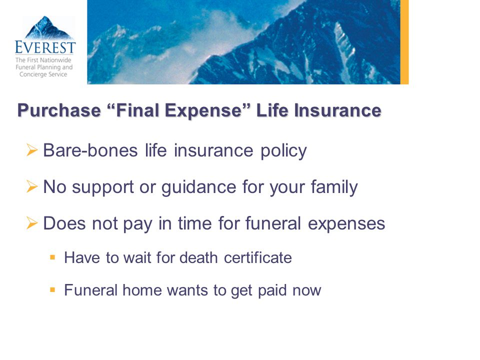 Purchase Final Expense Life Insurance
