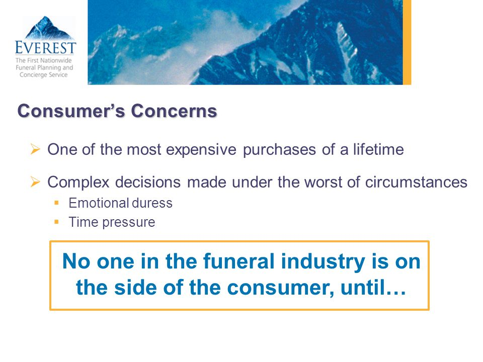 No one in the funeral industry is on the side of the consumer, until…