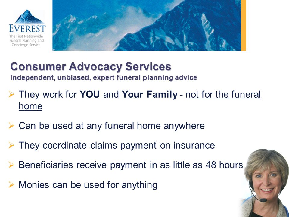 Consumer Advocacy Services Independent, unbiased, expert funeral planning advice
