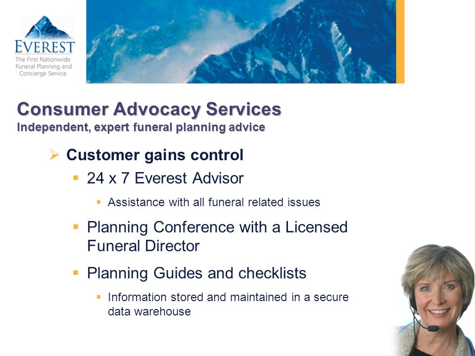 Consumer Advocacy Services Independent, expert funeral planning advice