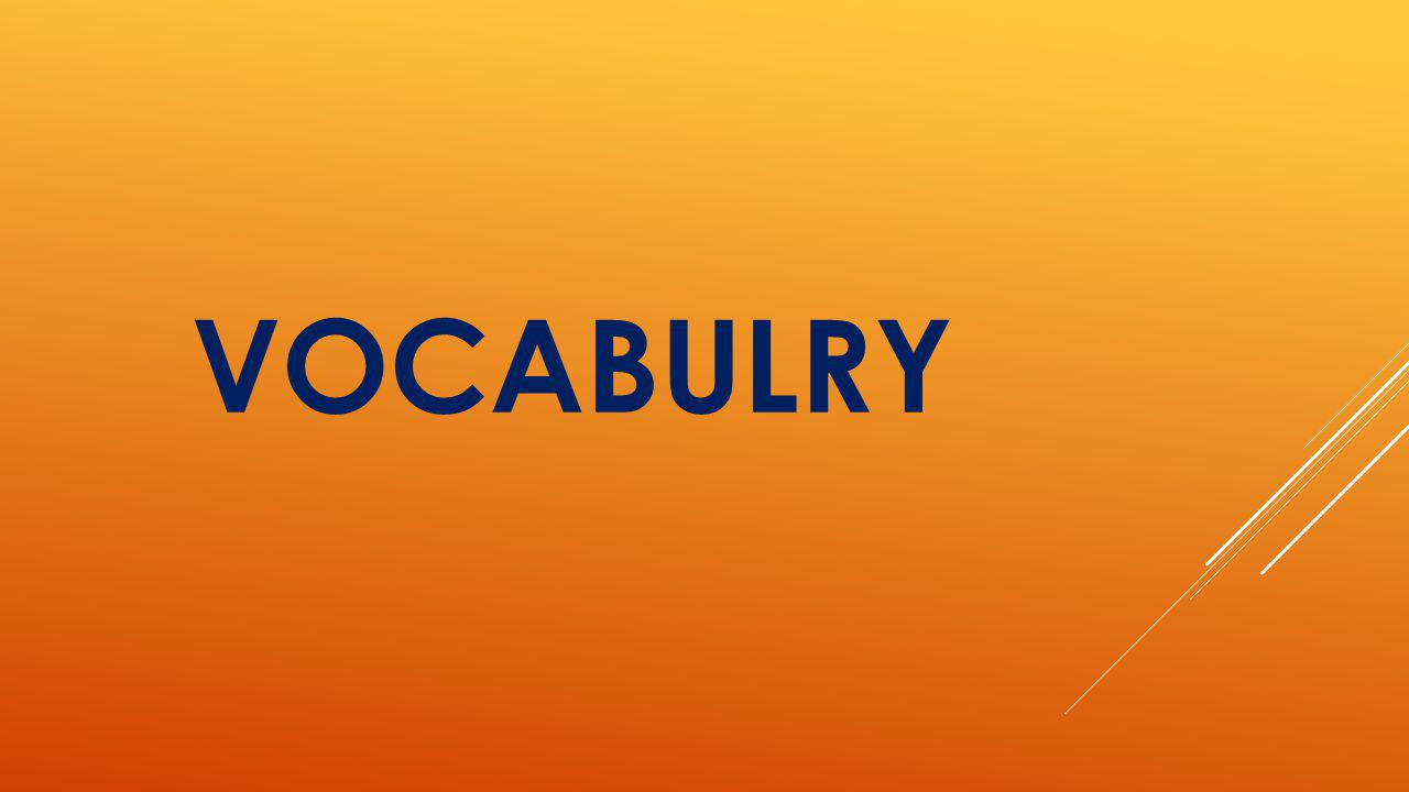 VOCABULRY