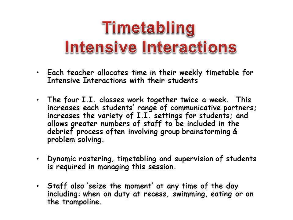 Intensive Interactions