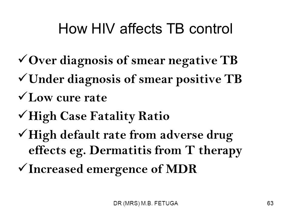 How HIV affects TB control