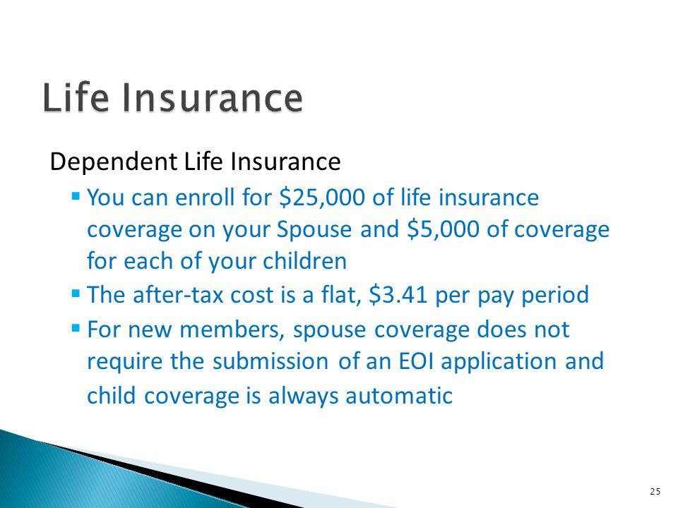 Life Insurance Dependent Life Insurance
