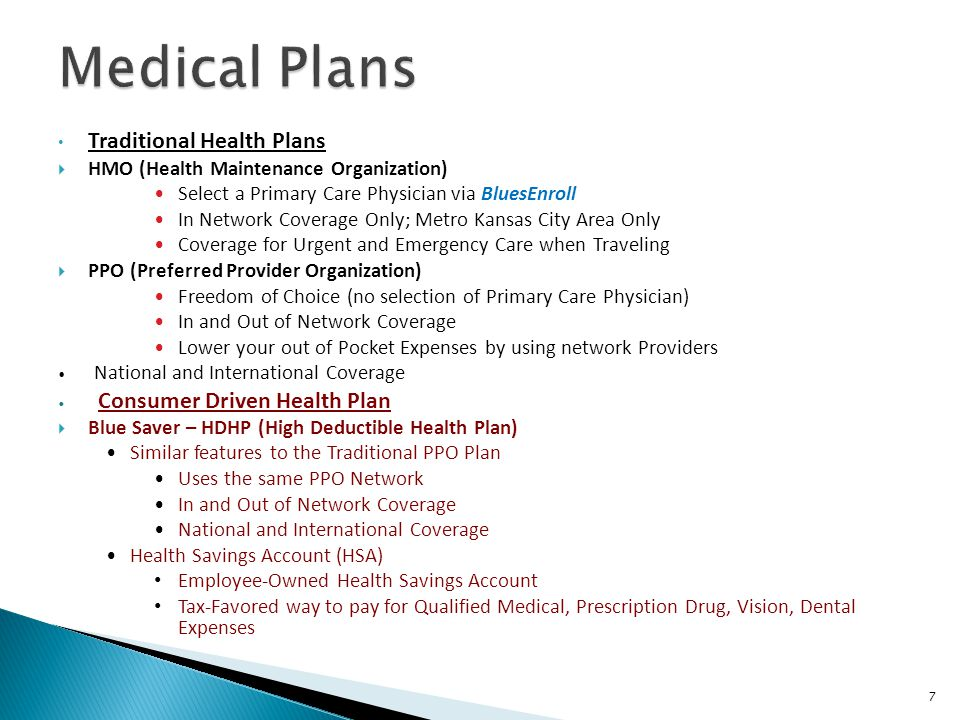 Medical Plans Traditional Health Plans