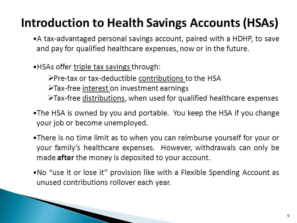 Introduction to Health Savings Accounts (HSAs)