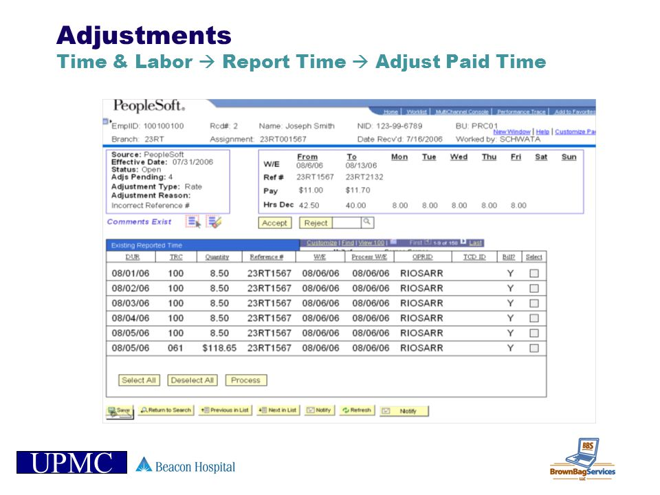 Adjustments Time & Labor  Report Time  Adjust Paid Time