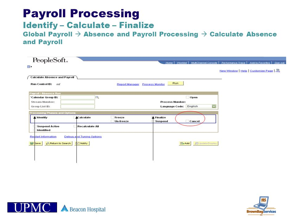 Payroll Processing Identify – Calculate – Finalize Global Payroll  Absence and Payroll Processing  Calculate Absence and Payroll