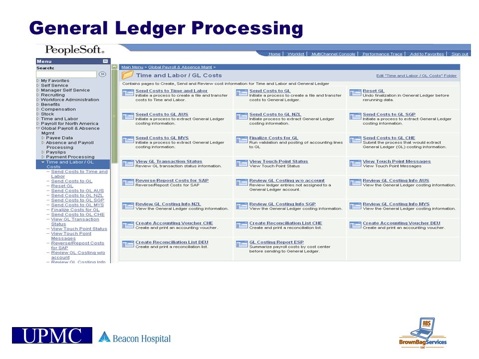 General Ledger Processing