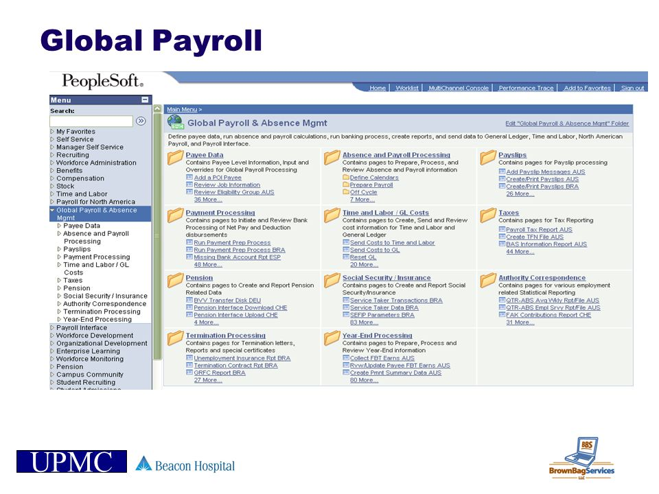 Global Payroll NOTES: _____________________________________________________________________