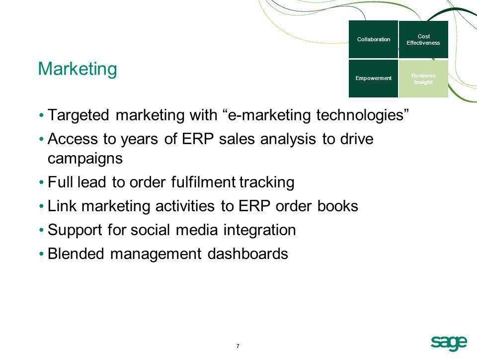 Marketing Targeted marketing with e-marketing technologies
