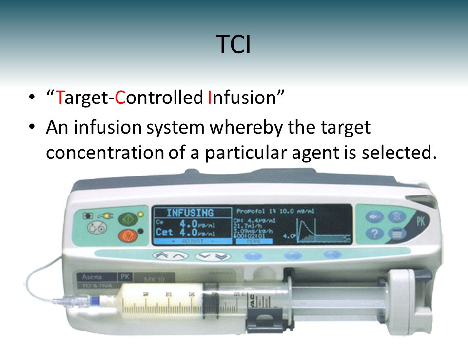 TCI Target-Controlled Infusion