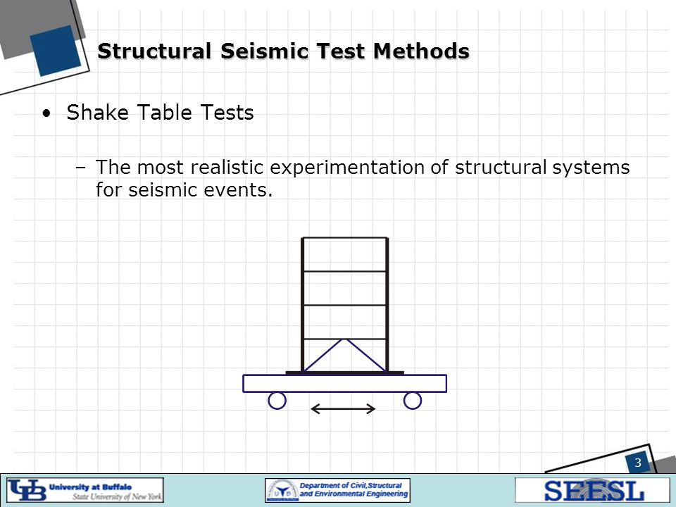 Structural Seismic Test Methods