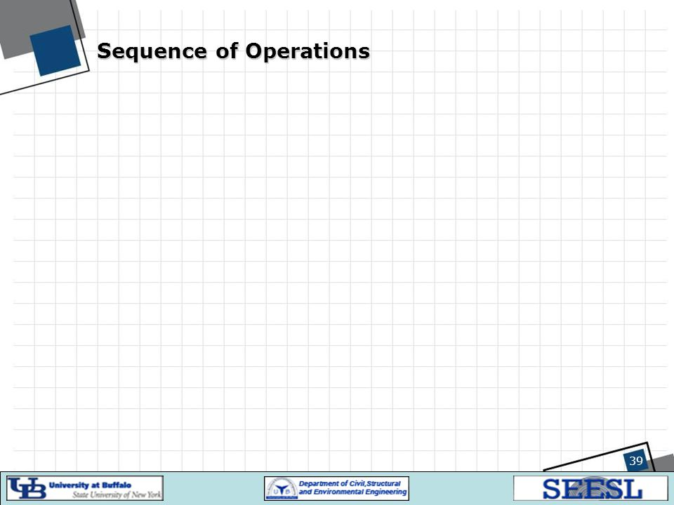 Sequence of Operations