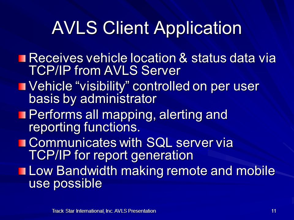 AVLS Client Application