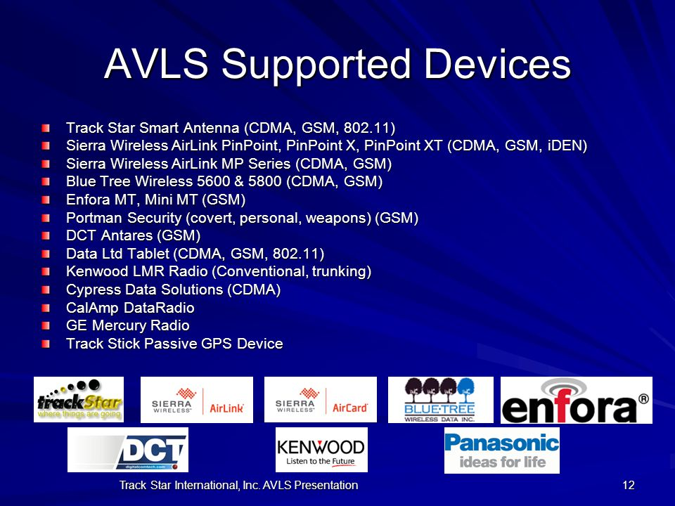 AVLS Supported Devices