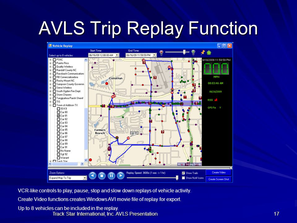 AVLS Trip Replay Function