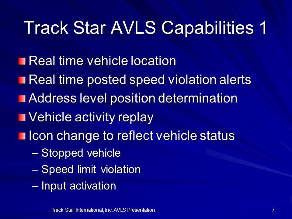 Track Star AVLS Capabilities 1