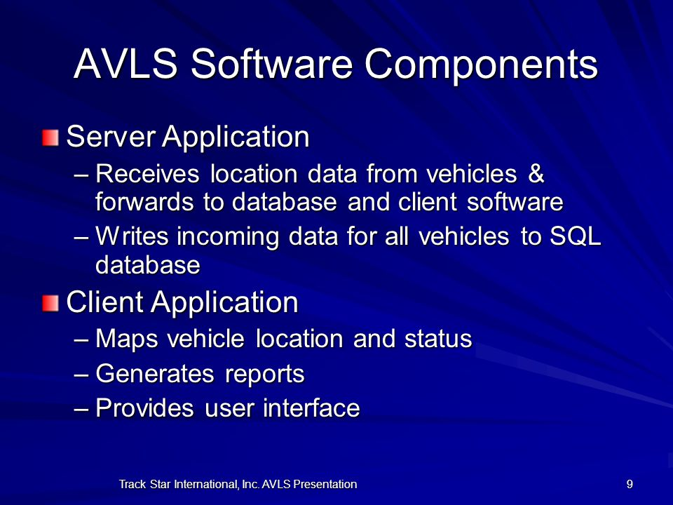 AVLS Software Components