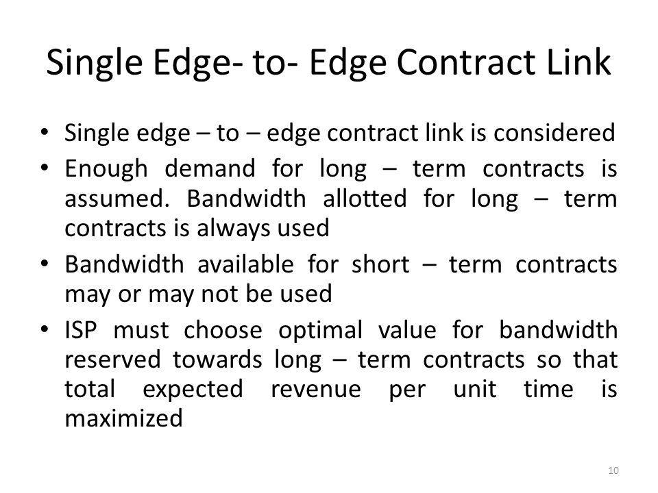 Single Edge- to- Edge Contract Link