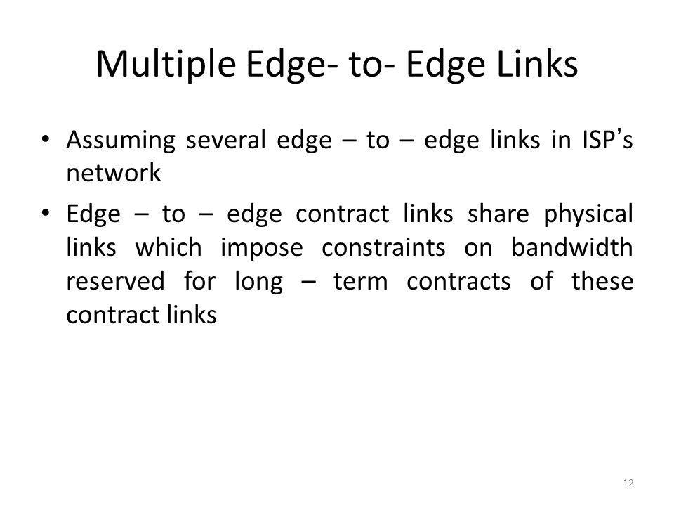 Multiple Edge- to- Edge Links