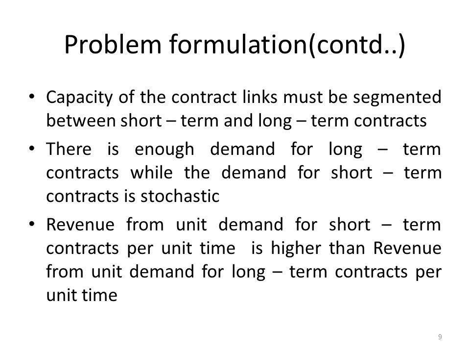 Problem formulation(contd..)