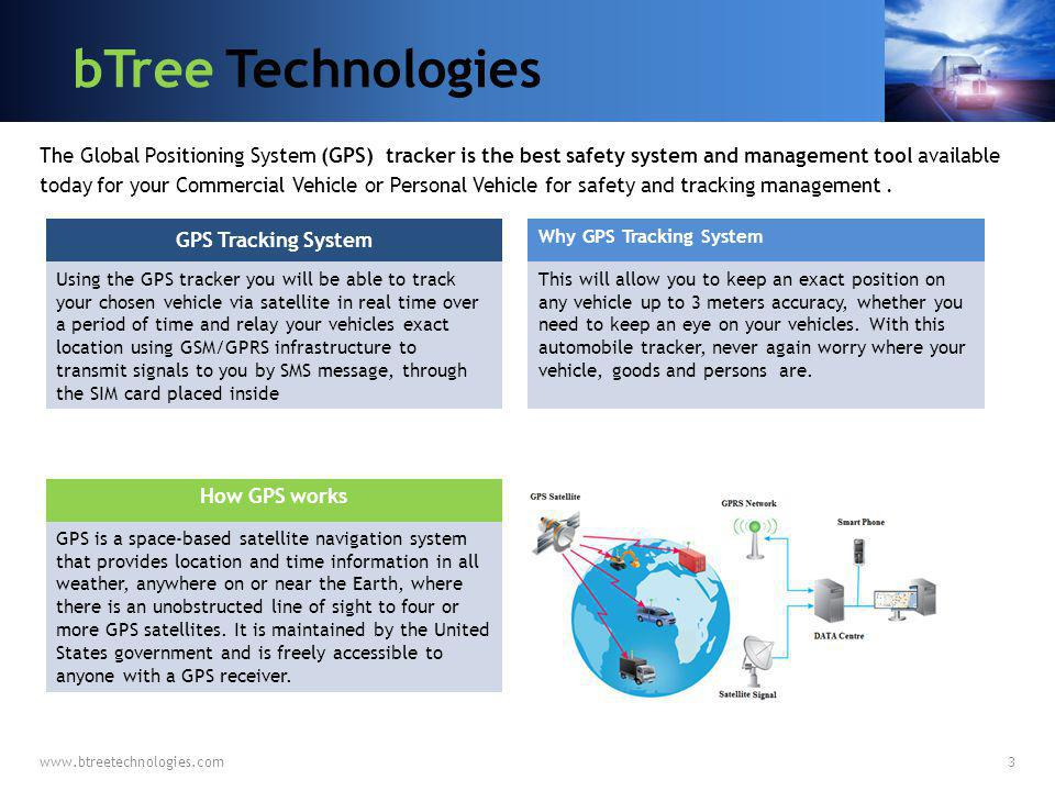 bTree Technologies GPS Tracking System